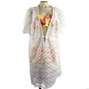 Catalina lace swimsuit cover up Plus Size 3X NWOT